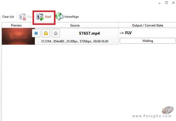 تبدیل فایل ویدئویی به فرمت FLV-3