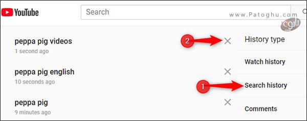 حذف موارد دلخواه از تاریخچه ی تماشای یوتیوب-3