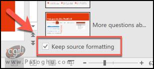 ترکیب فایل های پاورپوینت با استفاده از گزینه ی Reuse Slides-4