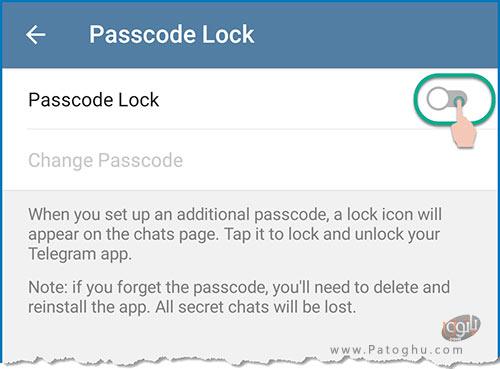 نحوه فعال کردن قفل پسورد در تلگرام-4