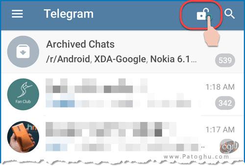 نحوه فعال کردن قفل پسورد در تلگرام-6